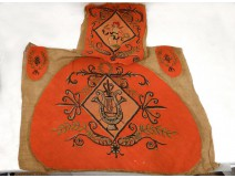 Tapestry chair seat trim Empire instruments music angel twentieth