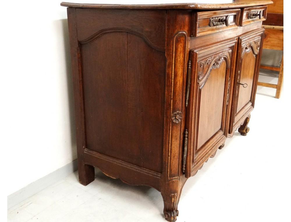rustic buffet louis xv lyon loire valley cherry feet snails eighteenth. Black Bedroom Furniture Sets. Home Design Ideas