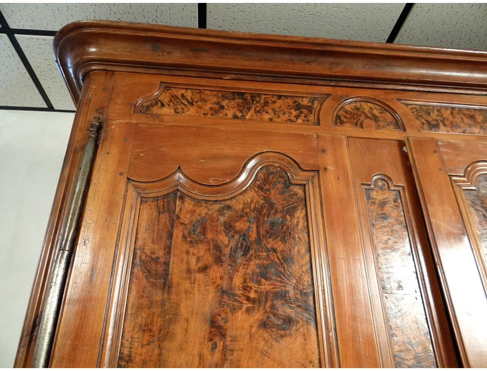 Armoire Louis Xv Carved Cherry Wood Burl Elm Bronze