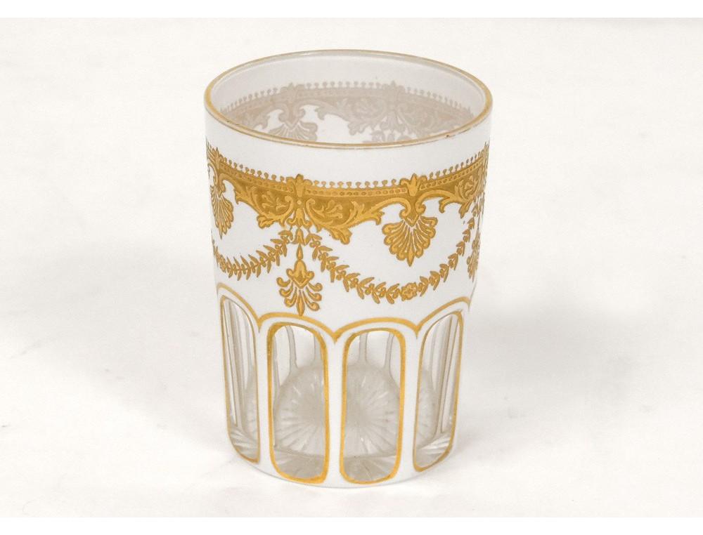 baccarat crystal glass flower antique gilt palmettes. Black Bedroom Furniture Sets. Home Design Ideas