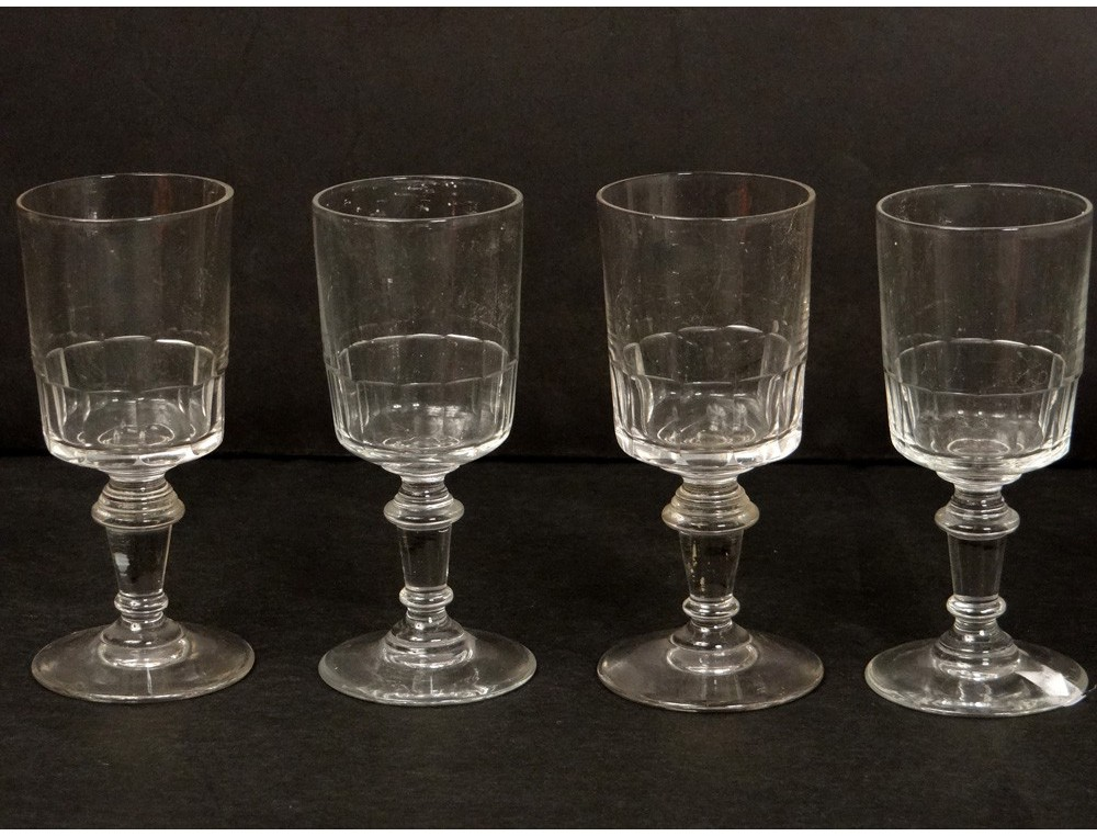 6 stemware liquor antique crystal glass french nineteenth ...