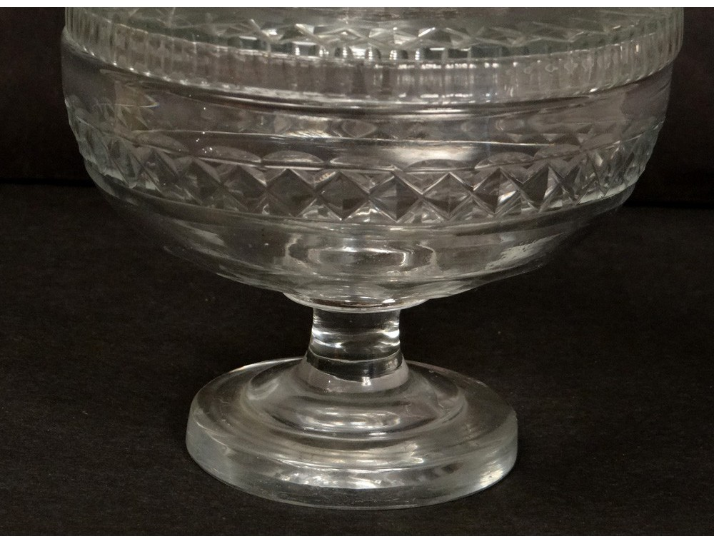 Compote Cut Crystal Baccarat St Louis Antique French