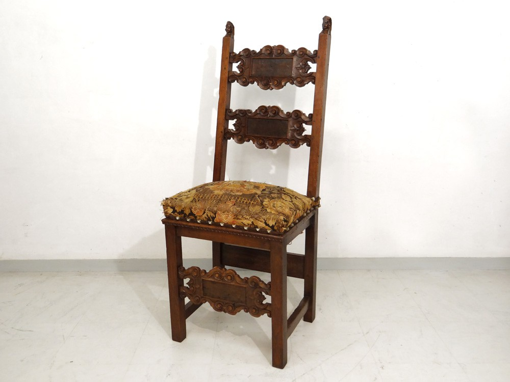 chair walnut carved renaissance fleur de women flesh xviith century ebay. Black Bedroom Furniture Sets. Home Design Ideas