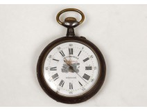 Watch automotive regulator burnished steel anti-magnetic watch nineteenth century