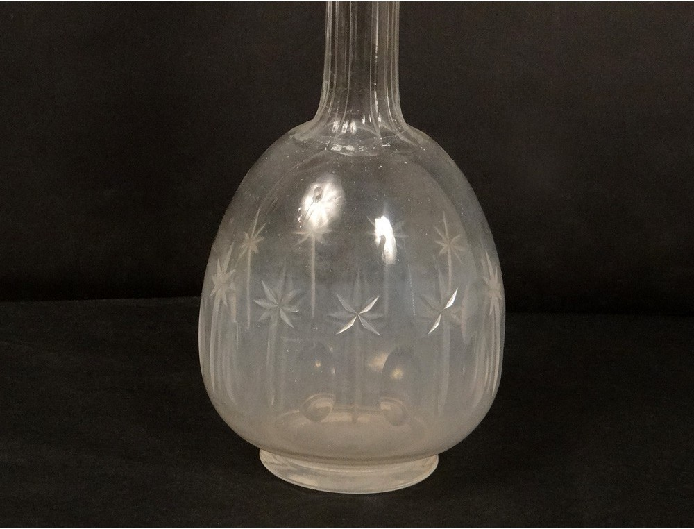 Baccarat Decanter Cut Crystal Star French Antique St
