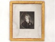 Engraving portrait Duke Richelieu Lawrence College Medal Holy Spirit XIX