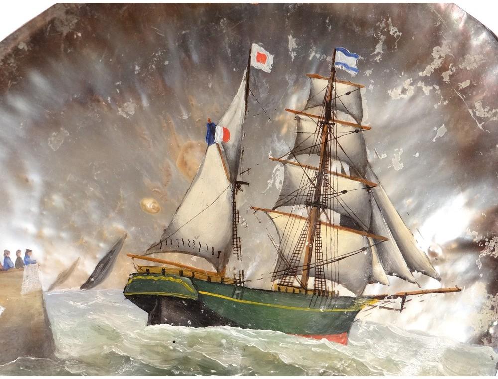 coquillage-nacre-souvenir-bord-mer-bateau-corsaire-saint-malo-phare-xixeme