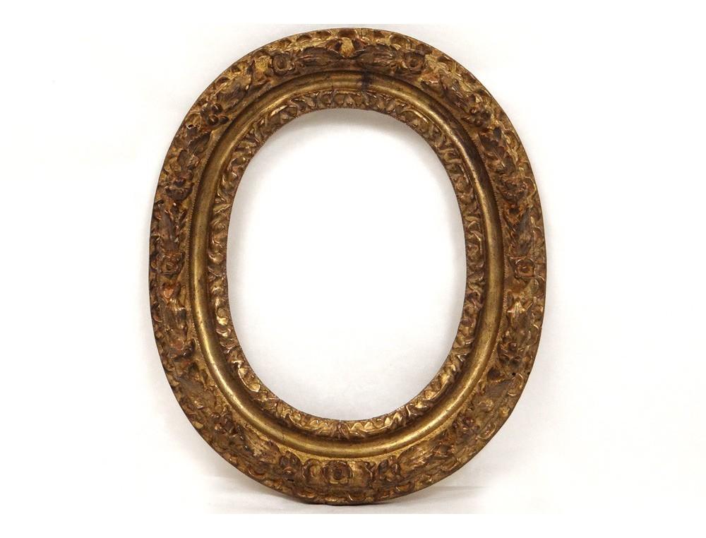 Oval Frame French Antique Carved Gilt Frame Flowers