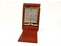 Gold metal clock watchmaker Jaeger Lecoultre Kirby Beard & Co Paris twentieth