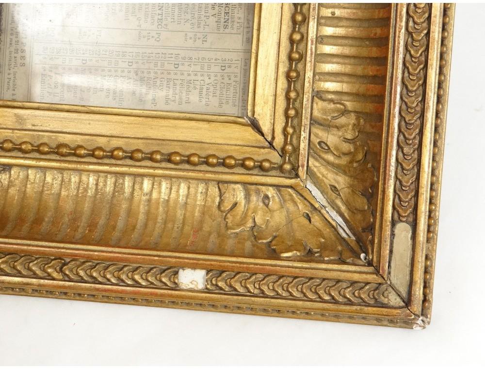 Miniature Wooden Frame Stucco Golden Napoleon Iii French