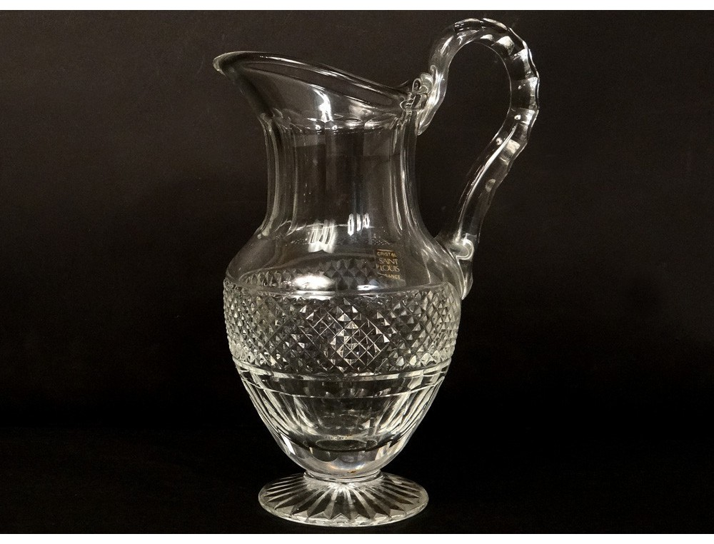 water pitcher cut crystal saint louis france trianon