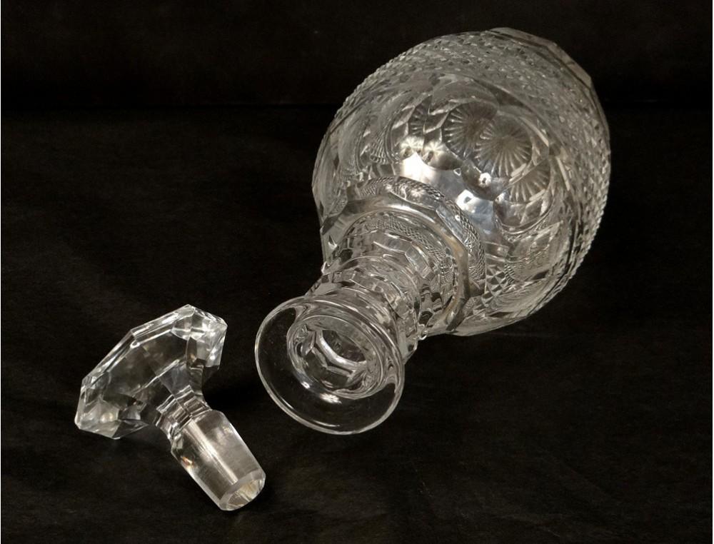 cut crystal decanter saint louis france trianon antique decanter