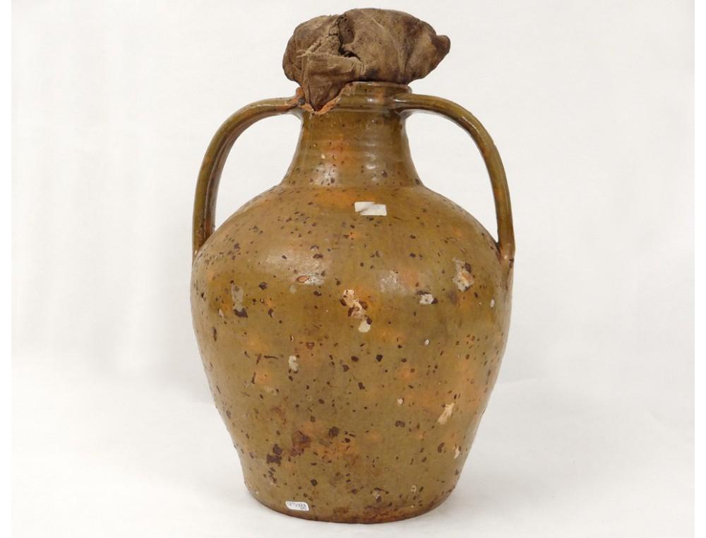 Old Oil Jar Glazed Terracotta Centre Auvergne France