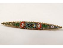 Pin micro mosaic Roma Italy ancient memory micro mosaic brooch nineteenth