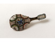 Pin micro mosaic brooch antique mandolin micro mosaix grand tour nineteenth