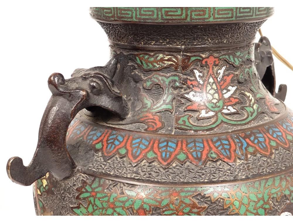 Exceptionnel China cloisonne vases pairs bronze figures dragons horses  SC03