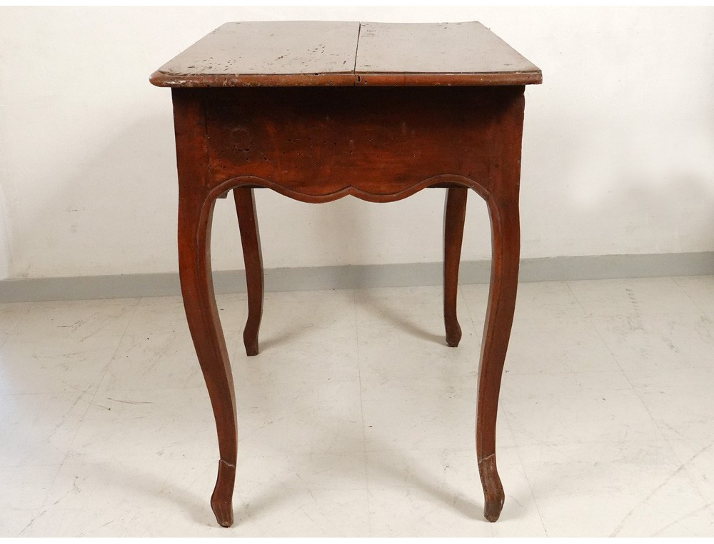 Table louis xv carved cherry wood curved legs lyon - Table louis xv ...