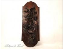 Mahogany sculpture, lobster and crab fishing, 19th