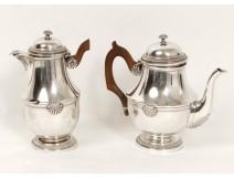 2 jugs sterling silver shells silver Minerva Napoleon III nineteenth century