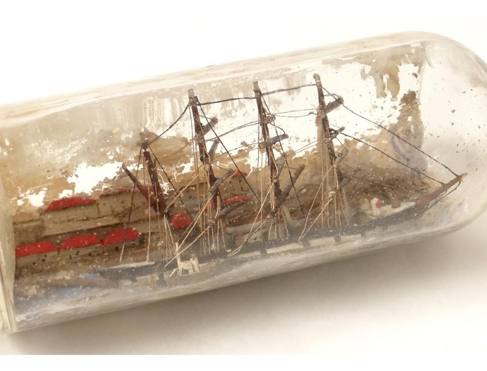 maquette bateau 4 m ts bouteille diorama village phare remorqueur ship xix. Black Bedroom Furniture Sets. Home Design Ideas
