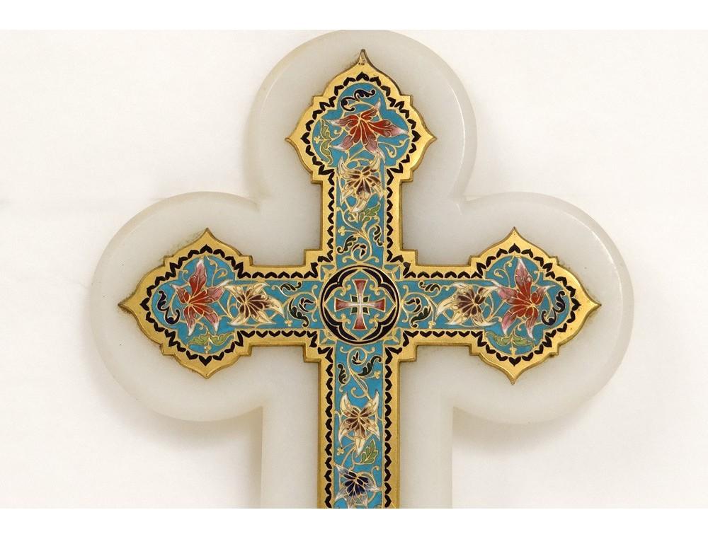 B 233 Nitier Croix Crucifix 233 Maux Cloisonn 233 S Marbre Enamel Fleurs Xix 232 Me Si 232 Cle