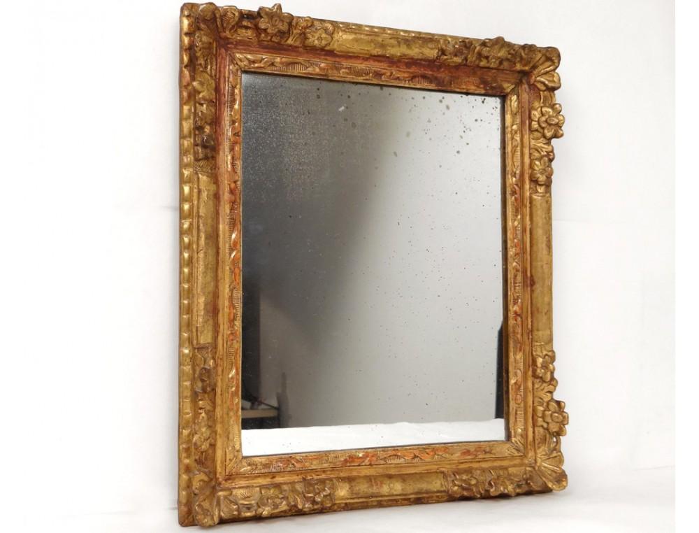carved wooden mirror frame golden flowers frame ice. Black Bedroom Furniture Sets. Home Design Ideas