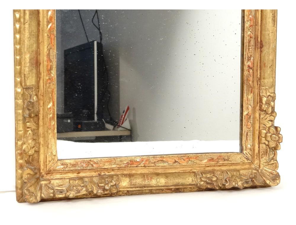 Carved Wooden Mirror Frame Golden Flowers Frame Ice