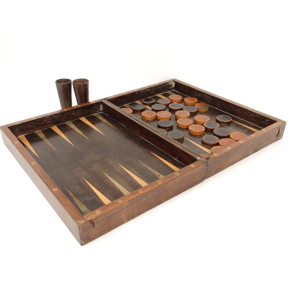 JEU DE Jacquet Palissandre Jetons Backgammon Trictrac  ~ Jeu De Jacquet En Bois
