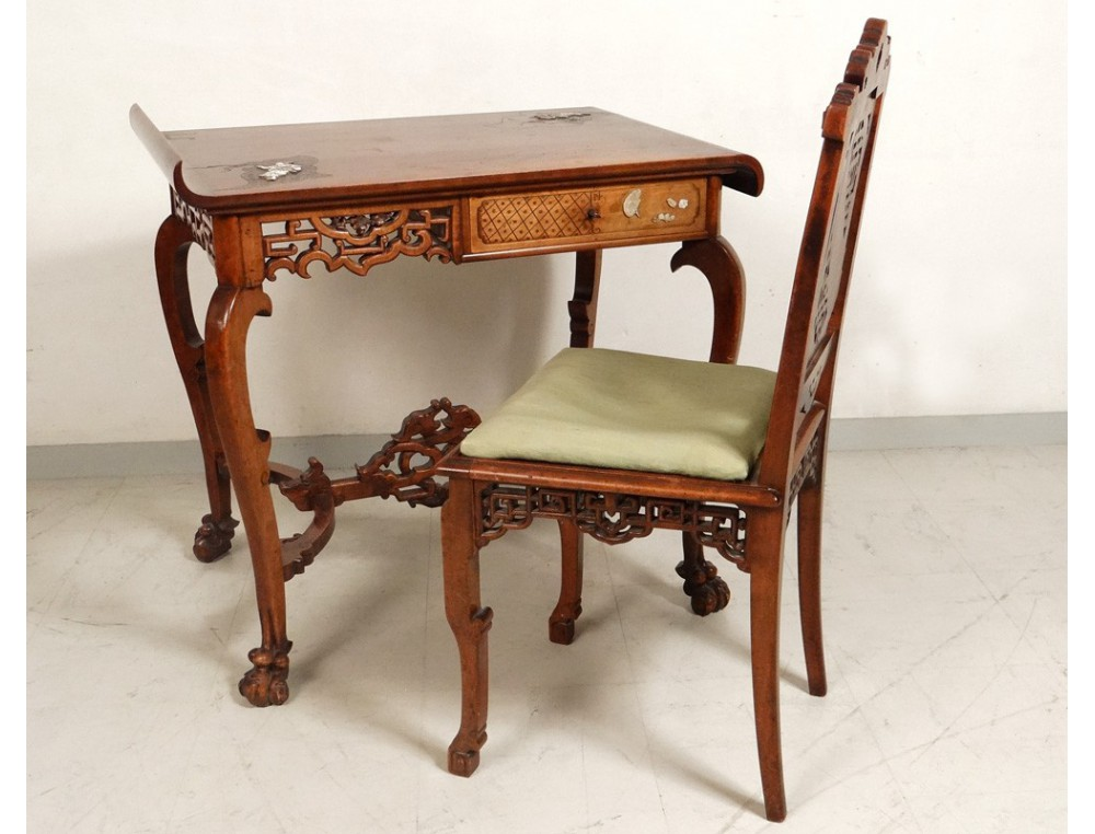 View Full Size Previous Chinese Characters Carved Wooden Office Chair
