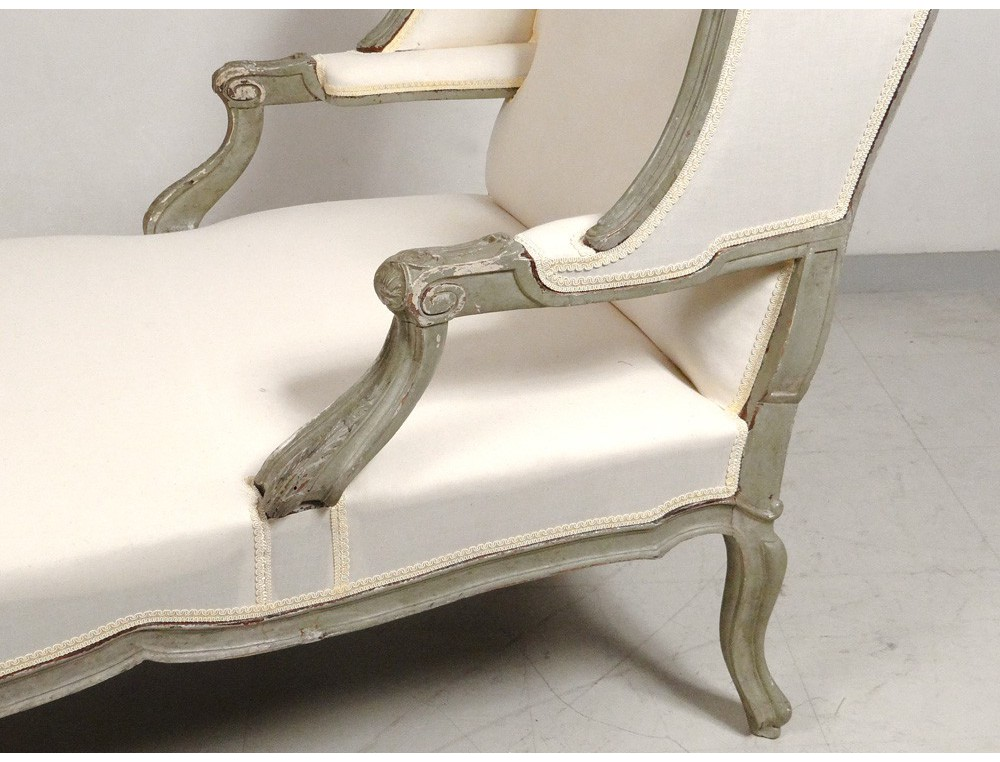 Deck chair louis xv carved lacquered wood duchess broken for Chaise jewelry box