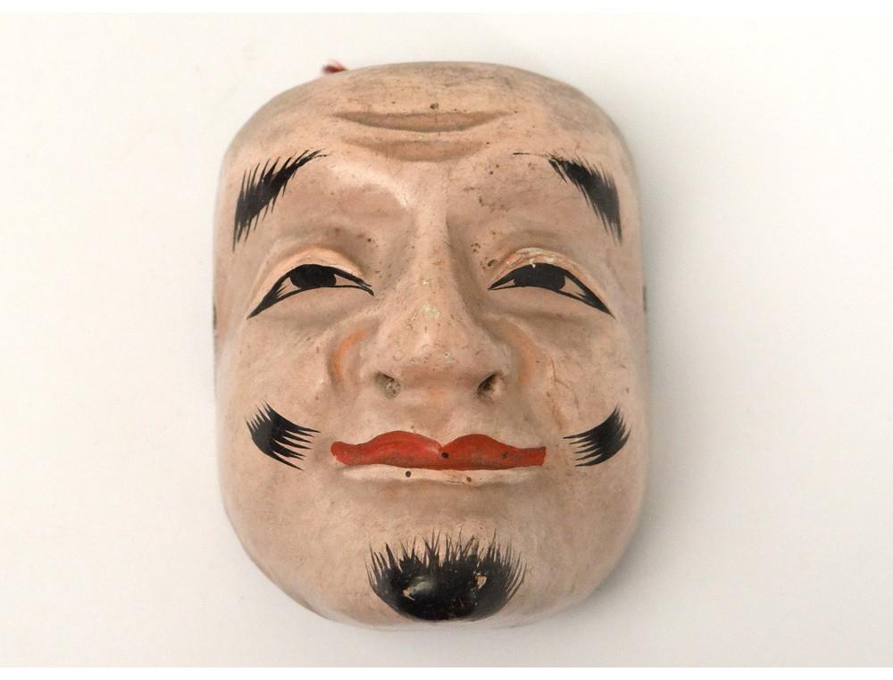 Masque De N 244 Th 233 226 Tre Bois Polychrome Homme Gigaku O