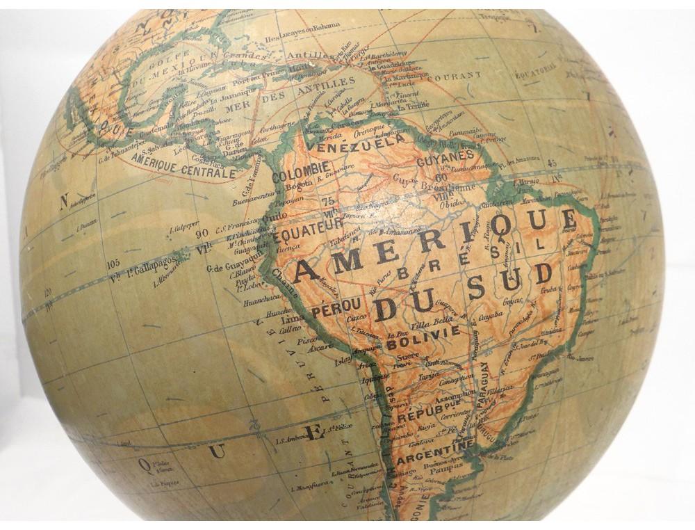large world map globe barbot geographer editor ikelmer paris 19th. Black Bedroom Furniture Sets. Home Design Ideas