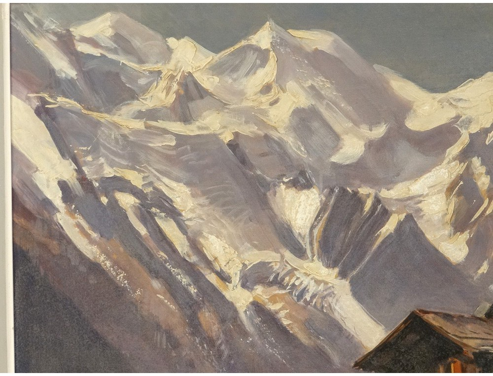 Hsp Peinture Paysage Montagne Enneig 233 E M Wibault Village