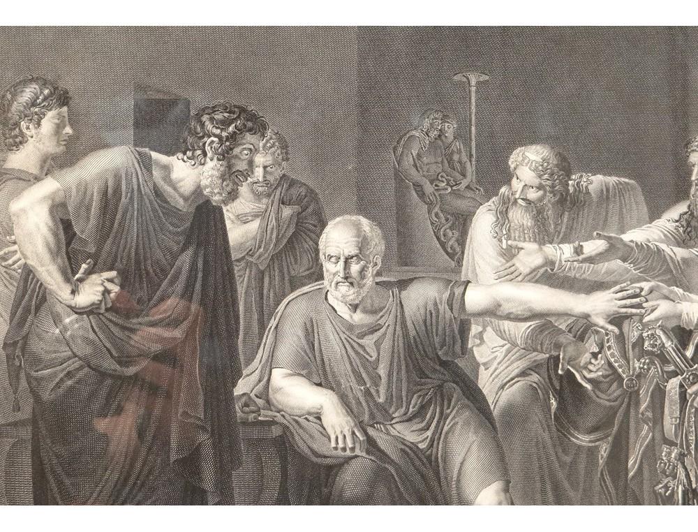 Gravure Hippocrate Refusant Pr 233 Sents Artaxerc 232 S M 233 Decine