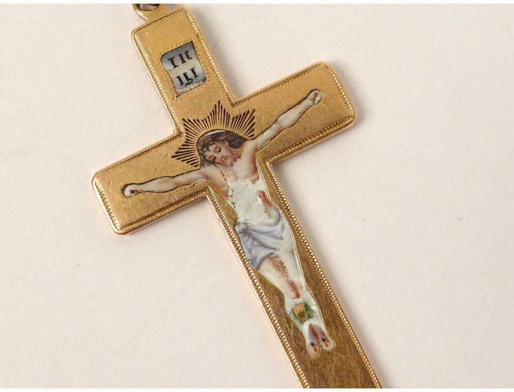 Croix Pendentif Or Massif 233 Tranger 233 Mail Christ Crucifix