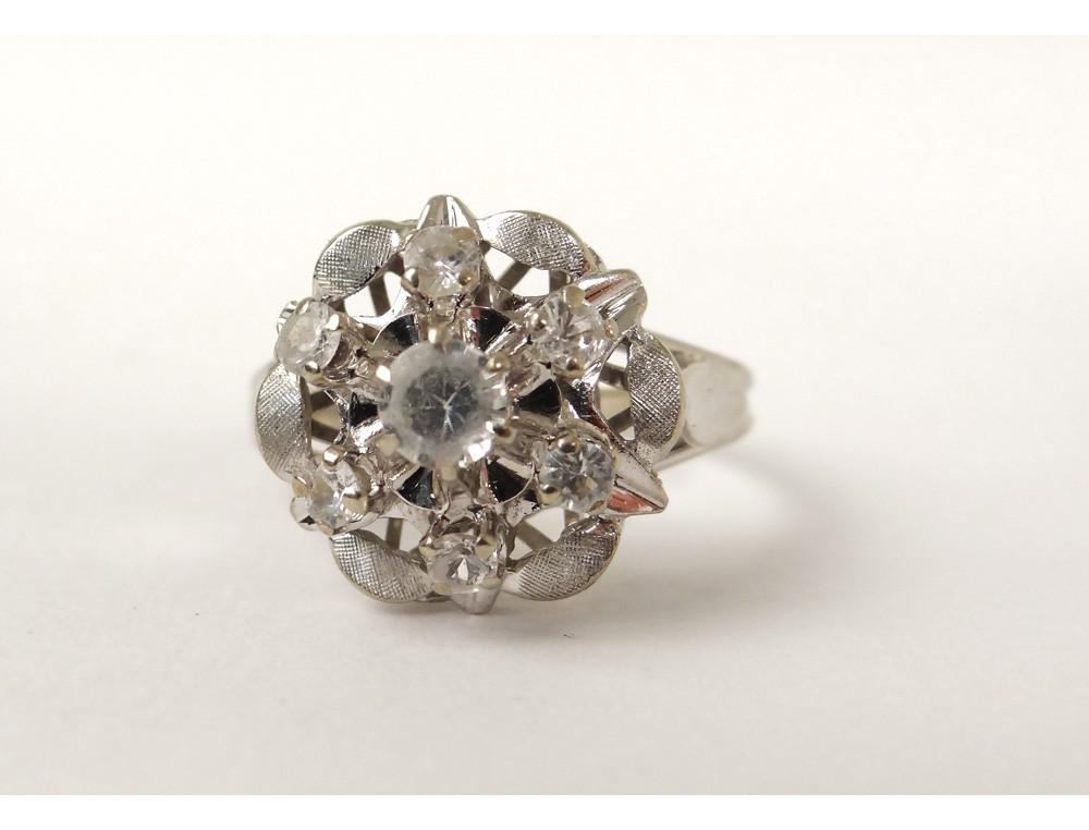 Bague Or Blanc 18 Carats T 234 Te Aigle Diamants Gold Ring