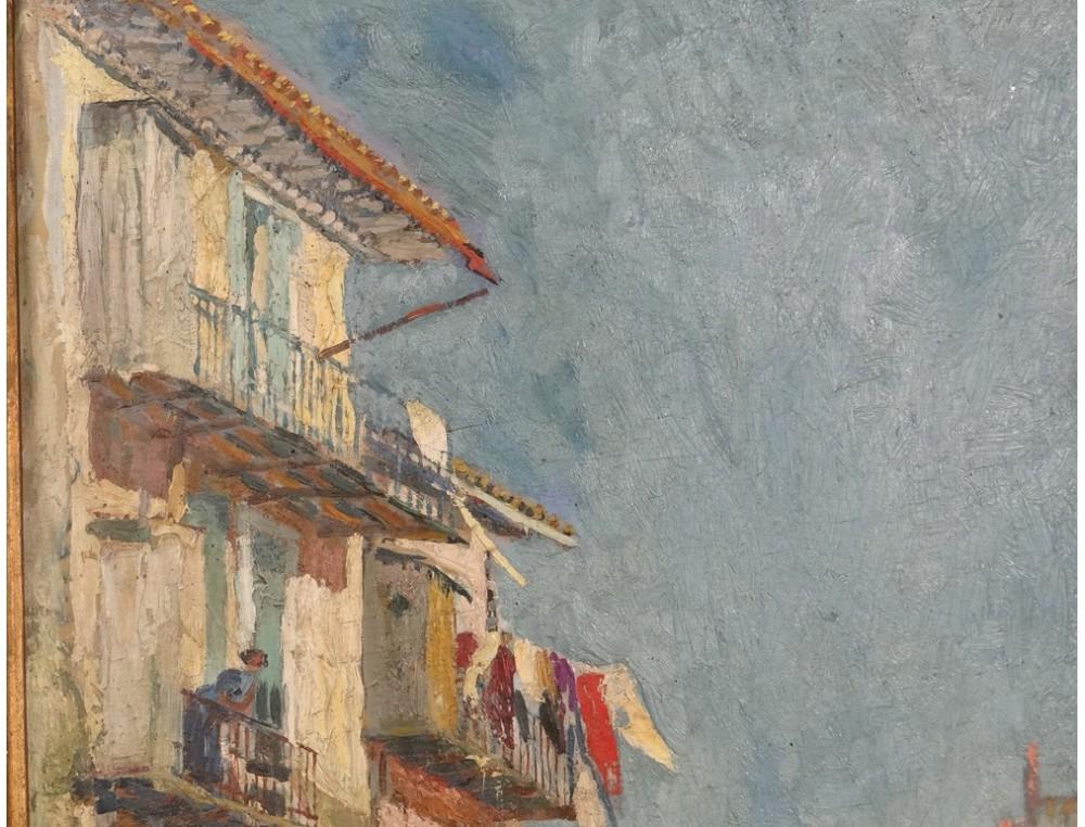 Hsp tableau paysage village maisons sud france c te d 39 azur for Achat maison france sud