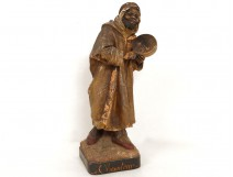 The character clay sculpture singer Guluche orientalist Moorish 19th
