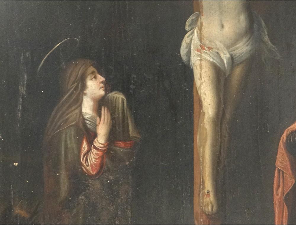 Hsp Tableau Religieux Christ Crucifix Calvaire Vierge