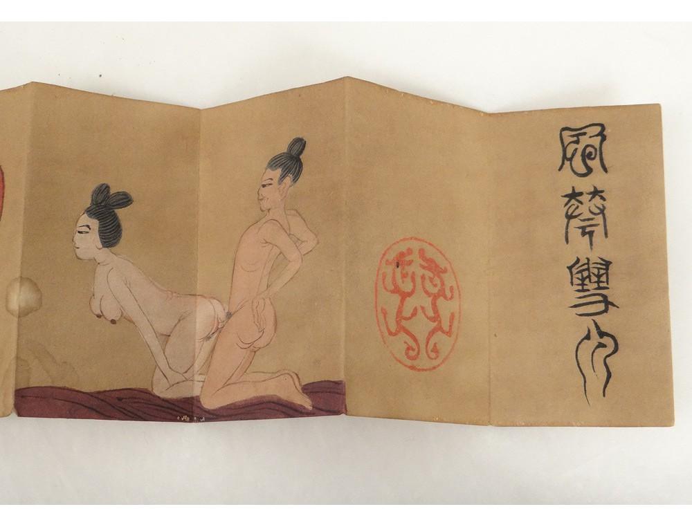 Rare Ensemble Aquarelles Kamasutra Japon Sign 233 Aphorismes