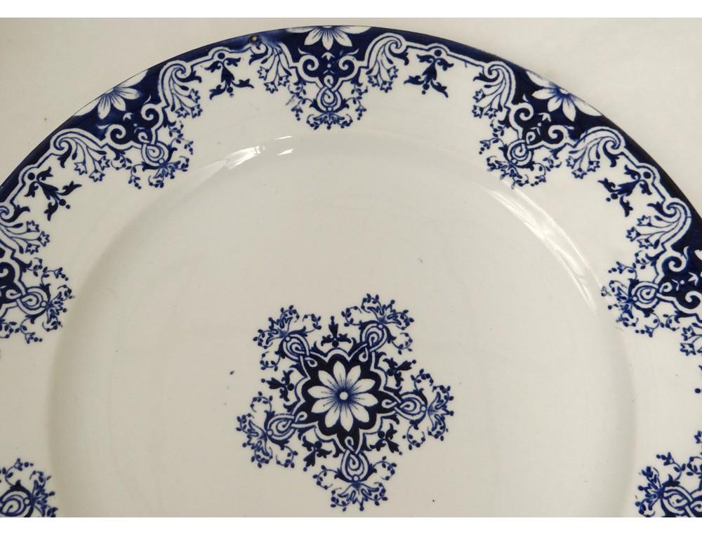 Service table vaisselle 113 pi ces fa ence bordeaux - Service de table complet 72 pieces ...