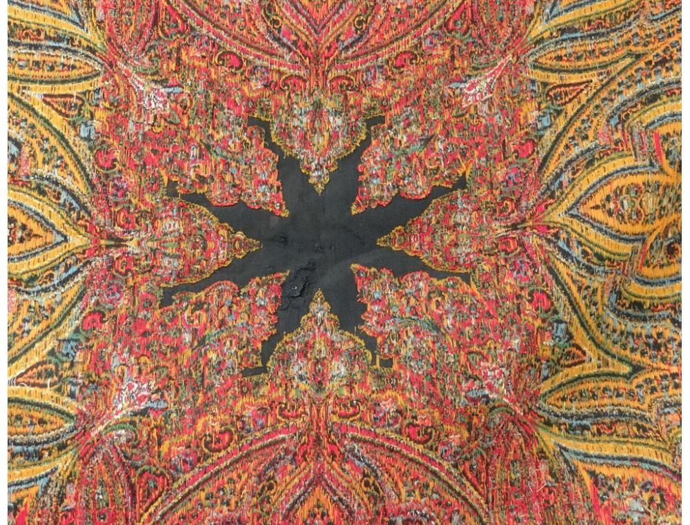 Ch 226 Le En Cachemire Ancien Fleurs Palmes Boteh Xix 232 Me Si 232 Cle