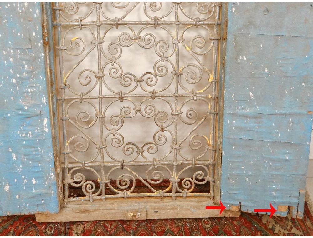 Fen 234 Tre Marocaine Grille Fer Forg 233 Bois Peint Maroc