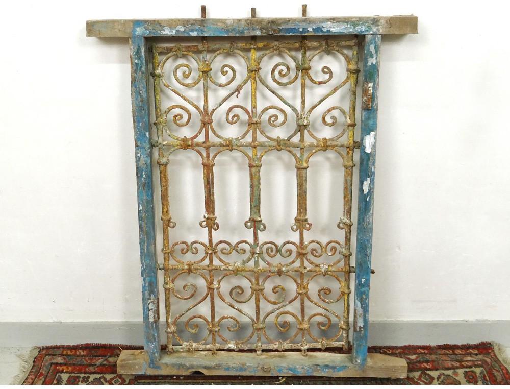 grille fen tre marocaine fer forg bois peint maroc maghreb atlas d co xx On fer forge grille fenetre