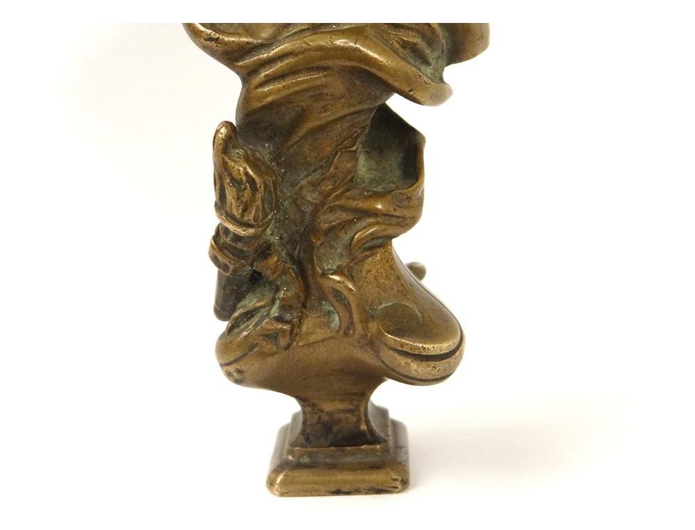 sceau cachet bronze dor a colle angelot flambeau fonderie vincennes xix me. Black Bedroom Furniture Sets. Home Design Ideas