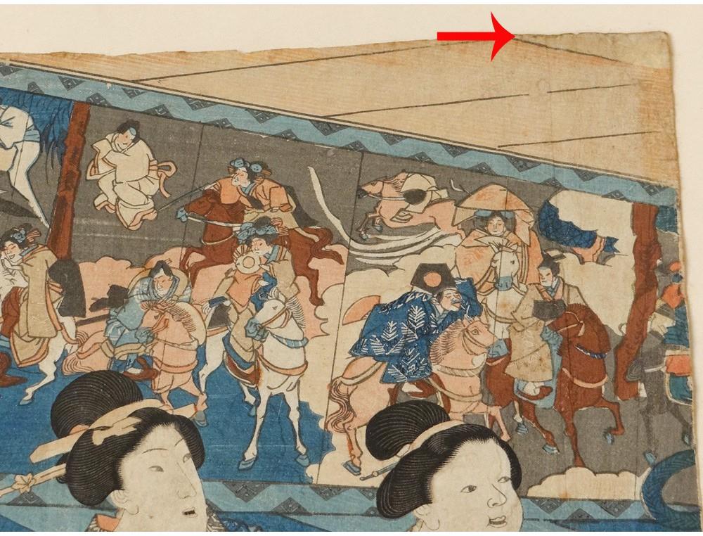 Estampe Japonaise Kuniyoshi Personnages Femmes Geisha
