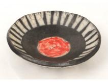 Assiette creuse coupelle vide-poche céramique japonaise Japon signé XXème