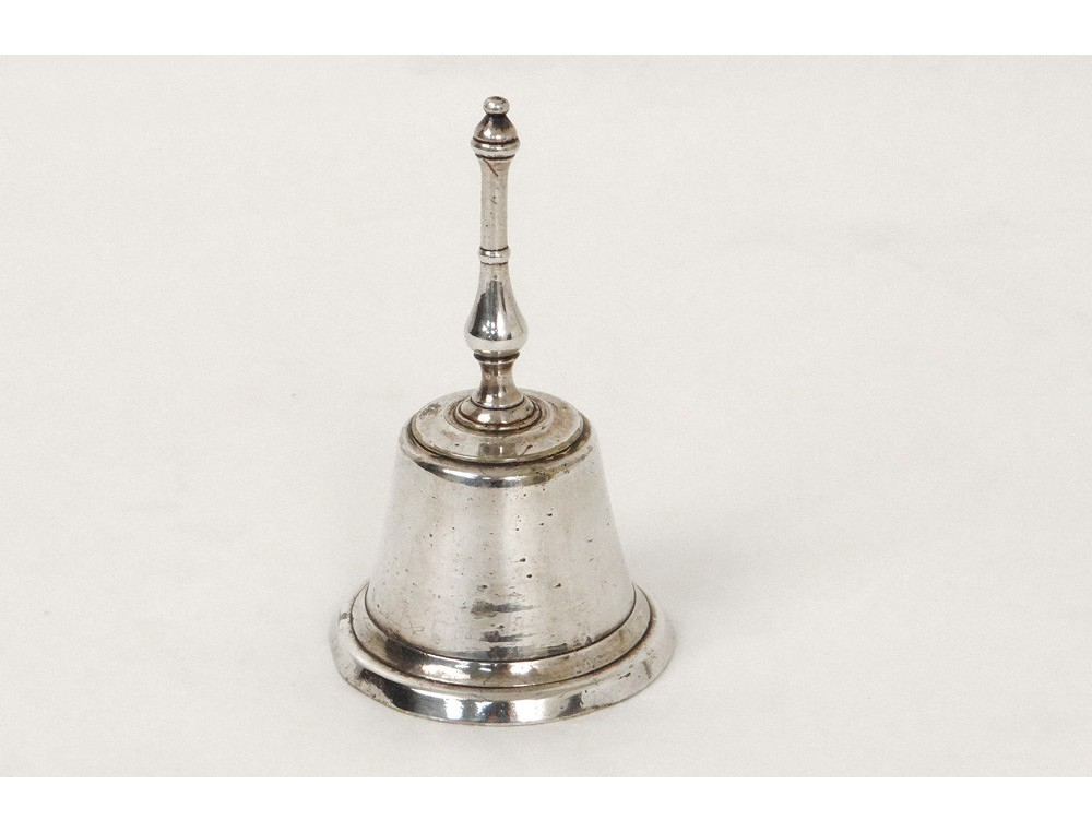 Antique silver table bell bronze bell french nineteenth