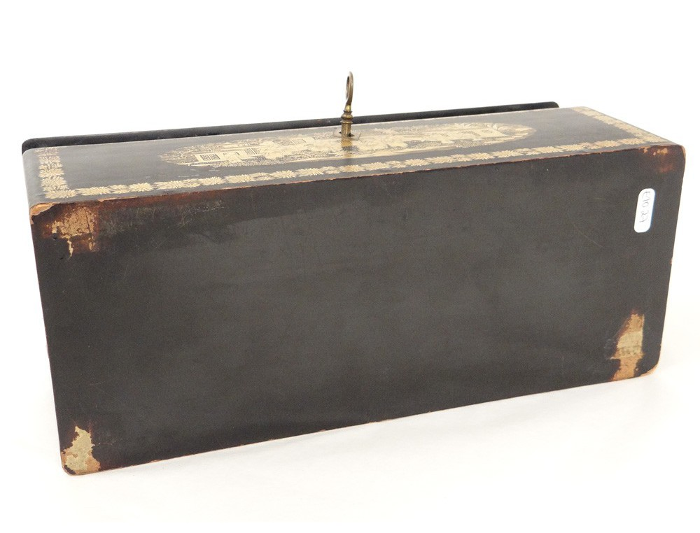 Glove Box Wooden Box Painted Gilt Chinese Characters