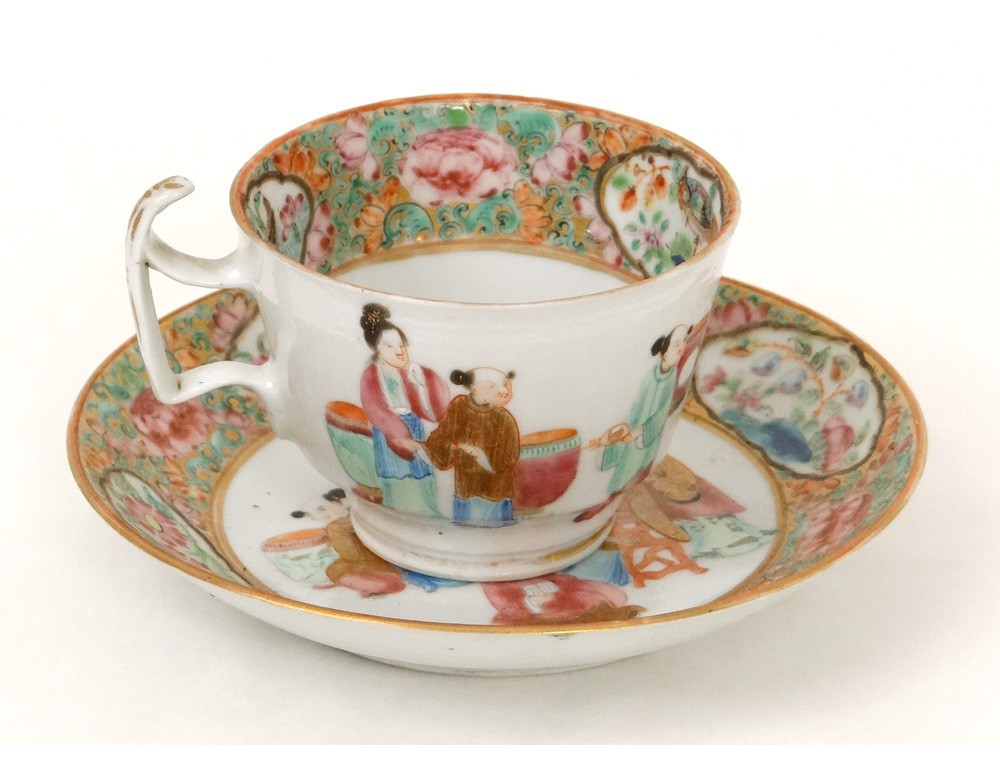 tasse-souc​oupe-porce​laine-cant​on-personn​ages-femme​s-mandarin​s-chine-xi​xeme